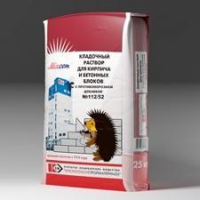 Кладочный раствор для кирпича и бетонных блоков с противоморозной добавкой № 112/52